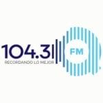 Logo da emissora Radio QFM 104.3 FM