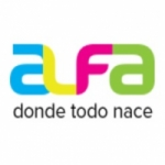 Logo da emissora Radio Alfa 104.5 FM