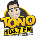 Logo da emissora Radio Toño 104.7 FM