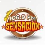 Logo da emissora Radio Sensacion 106.9 FM