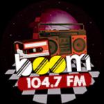 Logo da emissora Radio Boom 104.7 FM