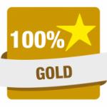Logo da emissora Hit Rádio 100% Gold