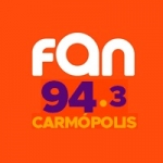 Logo da emissora Rádio Fan 94.3 FM