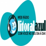 Logo da emissora Rádio Litoral Azul