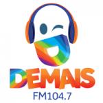 Logo da emissora Rádio Demais 104.7 FM
