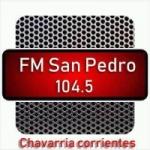 Logo da emissora Radio FM San Pedro 104.5 FM