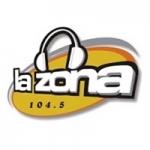 Logo da emissora Radio La Zona 104.5 FM