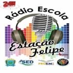 Logo da emissora Rádio Escola Estação Felipe