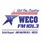 Logo da emissora WECO 101.3 FM