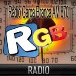 Logo da emissora Rádio Garça Branca 870 AM