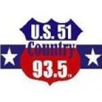 Logo da emissora WKBQ 93.5 FM