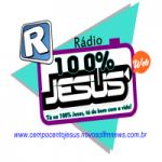 Logo da emissora Rádio 100% Jesus