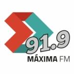 Logo da emissora Rádio Máxima 91.9 FM