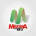 Logo da emissora Rádio Máxima 107.5 FM