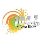 Logo da emissora Rádio 104.1 FM Nossa Rádio