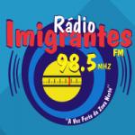 Logo da emissora Rádio imigrantes 98.5 FM