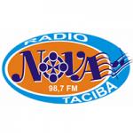 Logo da emissora Rádio Nova Taciba 98.7 FM