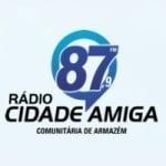 Logo da emissora Rádio Cidade Amiga 87.9 FM