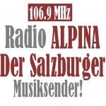 Logo da emissora Radio Alpina 106.9 FM