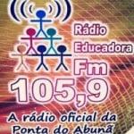 Logo da emissora Rádio Educadora 105.9 FM
