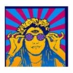 Logo da emissora Rádio Hippie Mundial