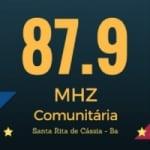 Logo da emissora Rádio Santa Rita 87.9 FM