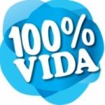 Logo da emissora Rádio 100%  Vida