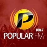 Logo da emissora Rádio Popular 100.7 FM