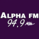 Logo da emissora Rádio Alpha 94.9 FM