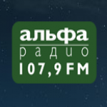 Logo da emissora Radio Alfa 107.9 FM