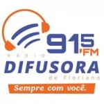 Logo da emissora Rádio Difusora 91.5 FM