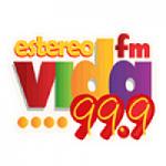 Logo da emissora Radio Estéreo Vida 99.9 FM