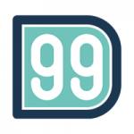 Logo da emissora Radio D99 98.9 FM