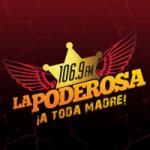 Logo da emissora Radio La Poderosa 106.9 FM