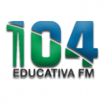 Logo da emissora Rádio Educativa FM 104