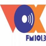 Logo da emissora Rádio Vox 101.3 FM