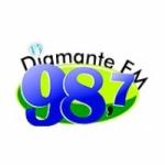 Logo da emissora Rádio Diamante 98.7 FM