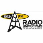 Logo da emissora Radio Universidad de Guadalajara 107.9 FM