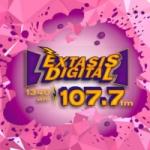 Logo da emissora Radio Éxtasis Digital 107.7 FM