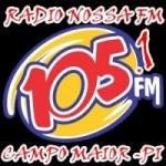Logo da emissora Rádio Nossa 105.1 FM