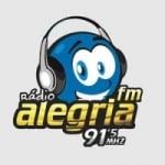 Logo da emissora Rádio Alegria 91.5 FM