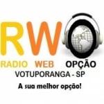 Logo da emissora Rádio Web Opção