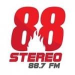 Logo da emissora Radio 88 Stereo 88.7 FM