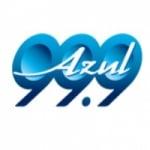 Logo da emissora Radio Azul 99.9 FM