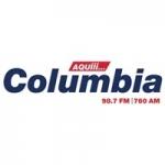 Logo da emissora Radio Columbia 98.7 FM