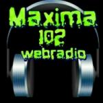 Logo da emissora Máxima 102