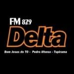 Logo da emissora Rádio Delta 87.9 FM