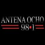 Logo da emissora Radio Antena Ocho 98.1 FM