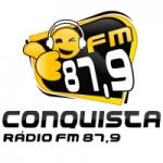 Logo da emissora Rádio Conquista 87.9 FM