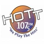 Logo da emissora Radio HOTT 107.5 FM